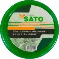 Шнур косильный «Sato» Techno, круглый, 2.7 мм х 15 м