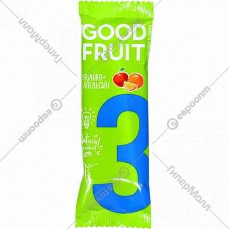 Фруктовый батончик «Good Fruit» яблоко, апельсин, 32 г.
