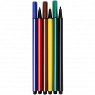 Фломастеры трехгранные «Дружная команда» 6 цветов.