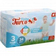 Подгузники-трусики для детей «Baby Turco» размер 3, 5-9 кг, 34 шт.