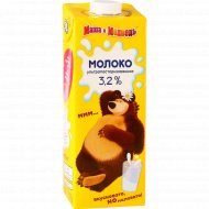 Молоко детское «Маша и медведь» ультрапастеризованное, 3.2%, 970 мл.