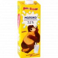 Молоко детское «Маша и медведь» ультрапастеризованное 3.2%, 970 мл.