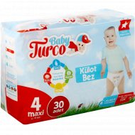 Трусики-подгузники «Baby Turco» размер 4, 8-18 кг, 30 шт.