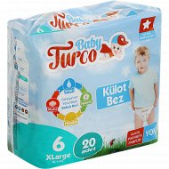 Подгузники-трусики для детей «Baby Turco» размер 6, 16+ кг, 20 шт.