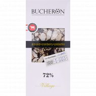 Шоколад горький «Bucheron» с миндалем, клюквой и фисташками 72%, 100 г.