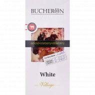 Шоколад белый «Bucheron»с миндалем, клюквой и клубникой, 100 г