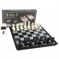 Игра три в одном: шахматы, шашки и нарды.