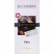 Шоколад горький «Bucheron» с клюквой, клубникой, фисташками 72%, 100 г