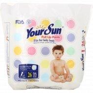 Детские подгузники-трусики «YourSun» размер L, 10-14 кг, 26 шт.