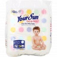 Детские подгузники-трусики «YourSun» размер XL, 12-16 кг, 24 шт.