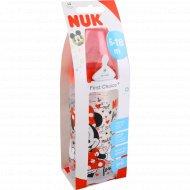 Бутылочка «Nuk» Микки маус, размер 2М, 6-18 мес, 300 мл.