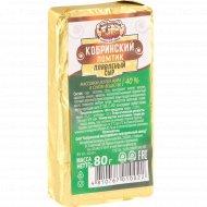 Сыр плавленый «Кобринский» 40%, 80 г