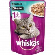 Корм для кошек «Whiskas» желе с кроликом, 85 г