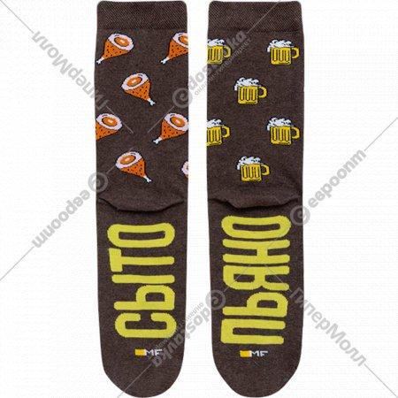 Носки мужские «Mark Formelle» коричневый меланж, размер 27