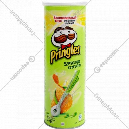 Чипсы «Pringles» зеленый лук, 165 г.