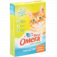 Лакомство для кошек «Neo Oмега» крепкое здоровье, 90 таблеток.