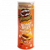 Чипсы «Pringles» ростбиф и горчица, 160 г.