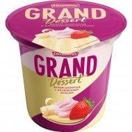 Пудинг «Гранд десерт» белый шоколад с клубничным муссом, 6%, 200 г.
