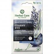 Маска для лица детоксифицирующая «Herbal Care» Черный рис 2х5мл.
