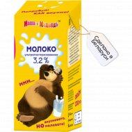Молоко детское «Маша и медведь» ультрапастеризованное 3.2%, 200 мл.