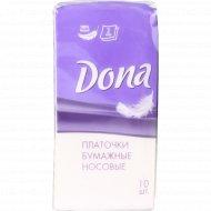 Бумажные салфетки «Dona» 10 платочков.