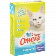 Лакомство для кошек «Neo Oмега» блестящая шерсть, 90 таблеток.