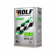Масло моторное «Rolf» energy, 10w40, 4 л.
