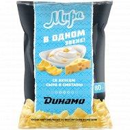 Снеки картофельные «Динамо» со вкусом сыра и сметаны, 80 г.