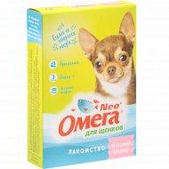 Лакомство для щенков «Neo Oмега» веселый малыш, 60 таблеток.