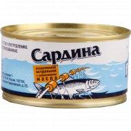 Консервы рыбные «Рыбарь» Сардина, 200 г.