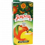 Напиток сокосодержащий «Sokovita» яблочно-персиковый, 0.95 л.