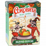 Напиток сокосодержащий «Sokovita» яблочно-персиковый, 0.2 л.