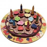 Деревянная развивающая игра «Торт» 54 детали.