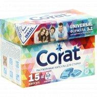 Капсулы для стирки «Corat» Universal, 15 шт * 21 г.