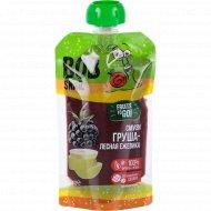 Пюре фруктово-ягодное «Bob Snail» груша-лесная ежевика, 120 г