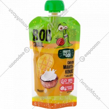 Пюре фруктовое «Bob Snail» манго-кокос-лимон, 120 г
