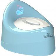Горшок детский «Kidwick» Ракушка, KW030202, голубой/белый