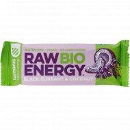 Батончик фруктовый «Raw Energy Bio» черная смородина и кокос, 50 г