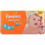 Подгузники «Pampers» Sleep & Play 8-14 кг, 4 размер, 50 шт.