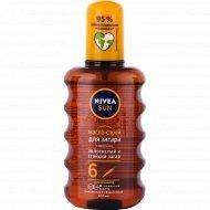 Масло-спрей «Nivea» для загара с каротином, SPF 6, 200 мл