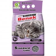 Наполнитель для туалета «Super Benek» лаванда, 5 л.