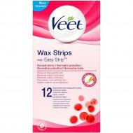 Восковые полоски «Veet» для нормальной кожи 12 шт.