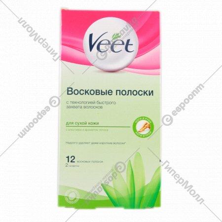 Полоски «Veet» для сухой кожи.
