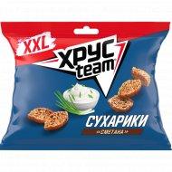 Сухарики «Хрусteam XXL» со вкусом сметаны 130 г.