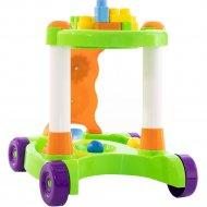 Каталка игрушка с конструктором 13 элементок, зелеленая, 58133