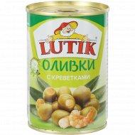 Оливки с креветкой «Lutik» консервированные, 280 г.