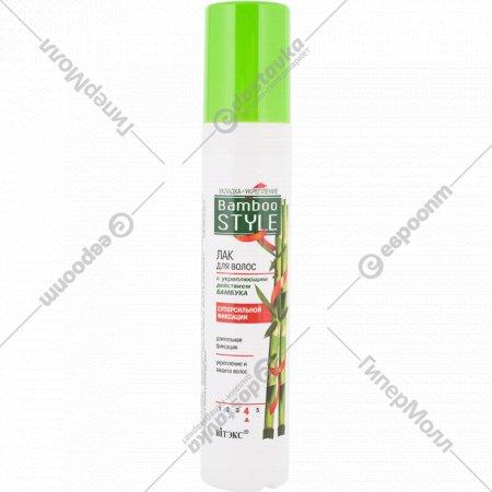 Лак для волос «Вiтэкс» укладка+укрепление, 215 мл