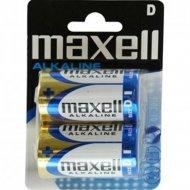 Батарейки «Maxell» Alkaline, D/LR20, 2 шт