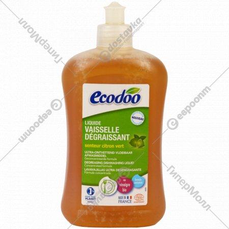 Средство для мытья посуды «Ecodoo» зеленый лимон, 500 мл.