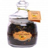 Чай черный «Чайная коллекция» персик с айвой, 130 г.